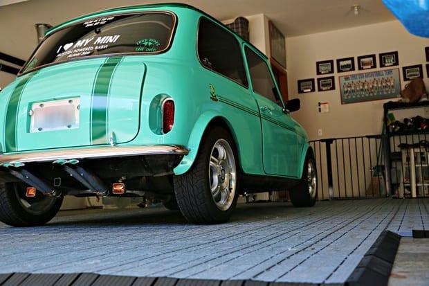 MacroTrac RolaTrac Garage Flooring Solutions Mini Cooper